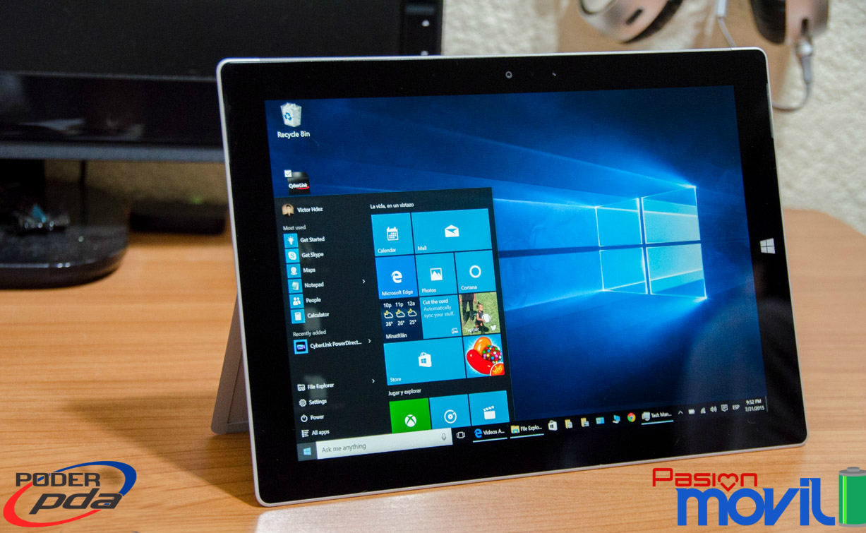 Microsoft Surface 3 con Windows 10-Analisis