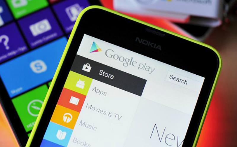 Nokia Lumia con Google Play