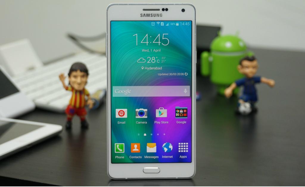 Galaxy A7 tiene un diseño inspirado en el Galaxy Alpha