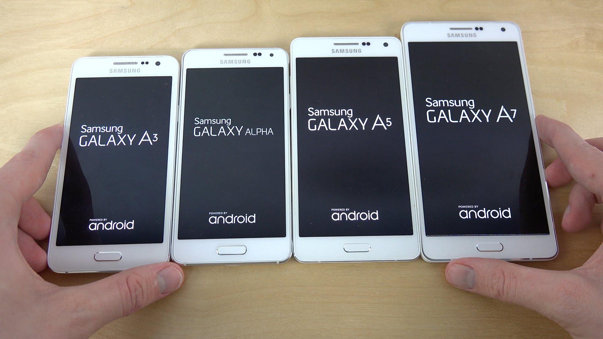 Galaxy A7 presume mismo diseño que el A5 y A3