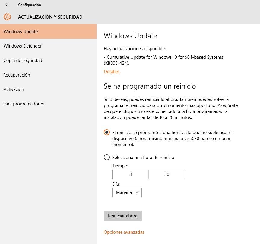 Windows 10 recibe actualizacion acumulativa