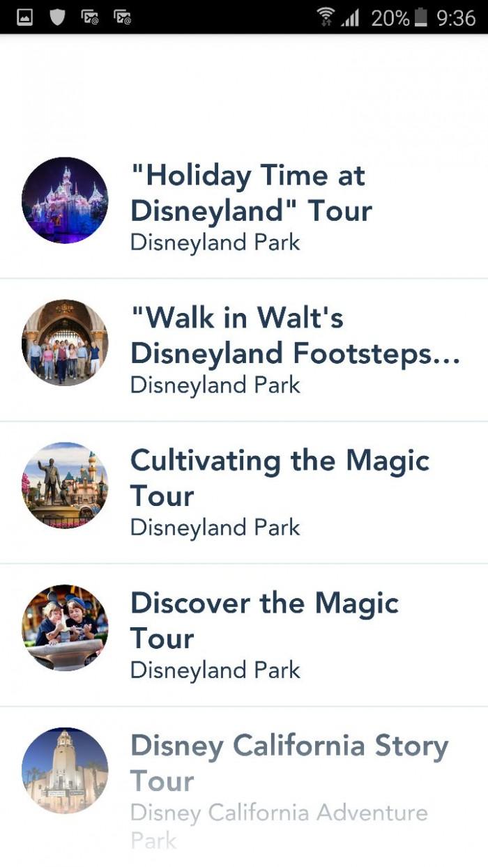 disneyland app eventos y tours