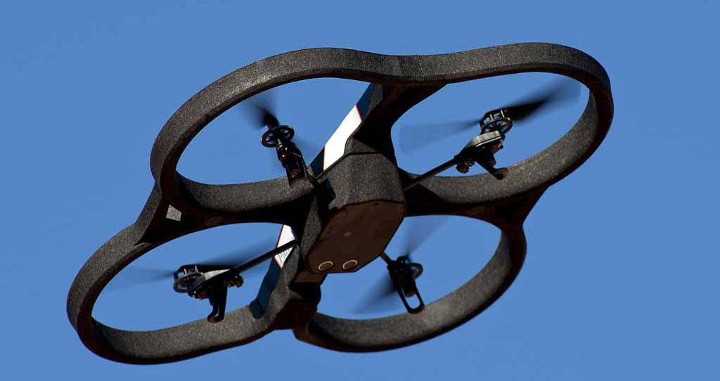 Closeup of AR Drone Copter