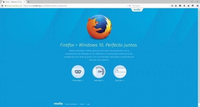 firefox Windows® 10