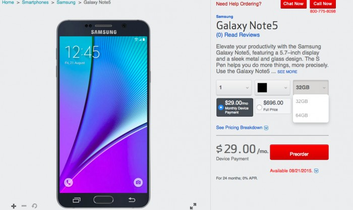 galaxy note 5 32-64gb