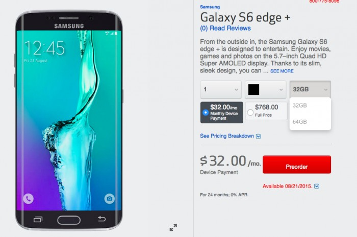 galaxy s6 edge+ 32-64gb