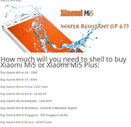 precio xiaomi m5