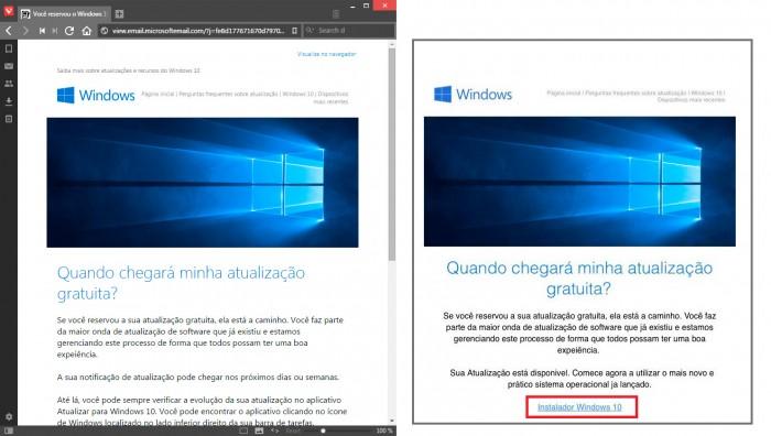 windows 10 spam