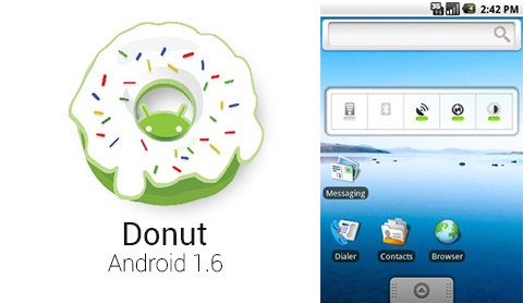 Android 1.6 Donut en HTC Dream