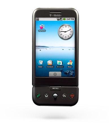 Pantalla inicial de Android 1.5 en el HTC Dream