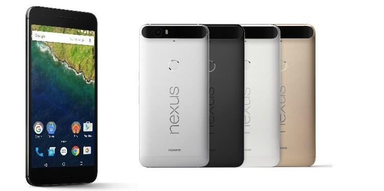 Nexus 6P vendrá en cuatro colores diferentes