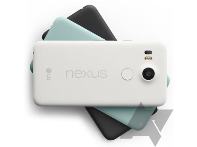 LG Nexus 5X estará disponible en colores blanco, negro y azul menta