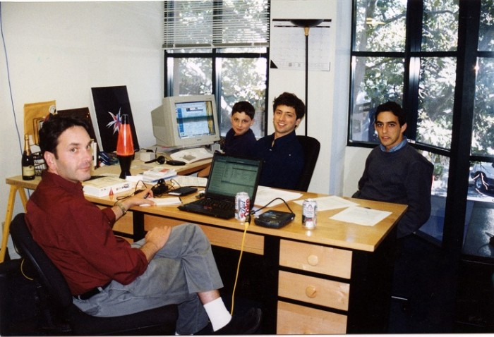 Larry Page y Sergey Brin primeras oficinas Google