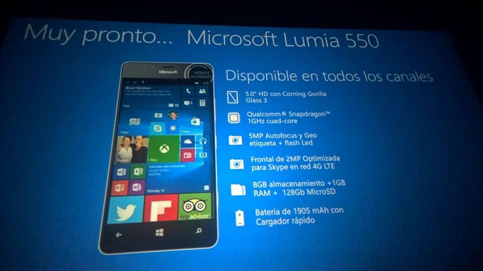 Lumia 550 es internamente oficial