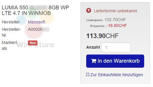 Lumia 550 filtrado