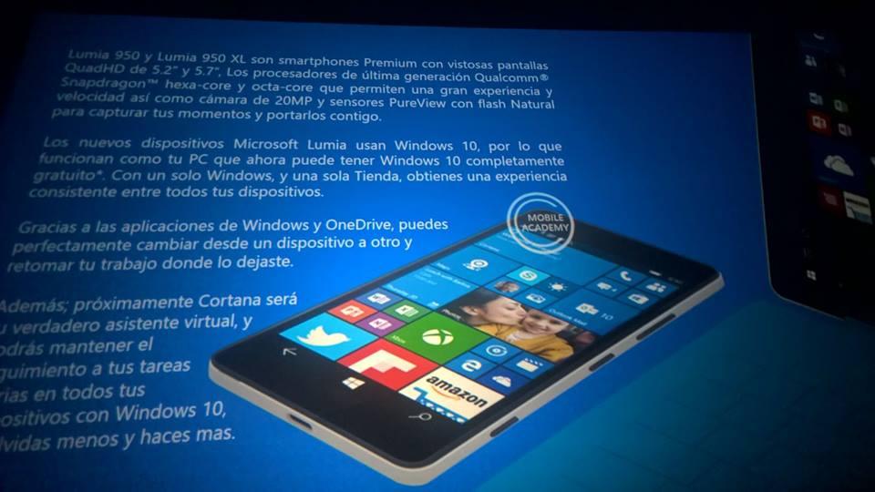 Presentación interna de los nuevos Lumia 950/950 XL