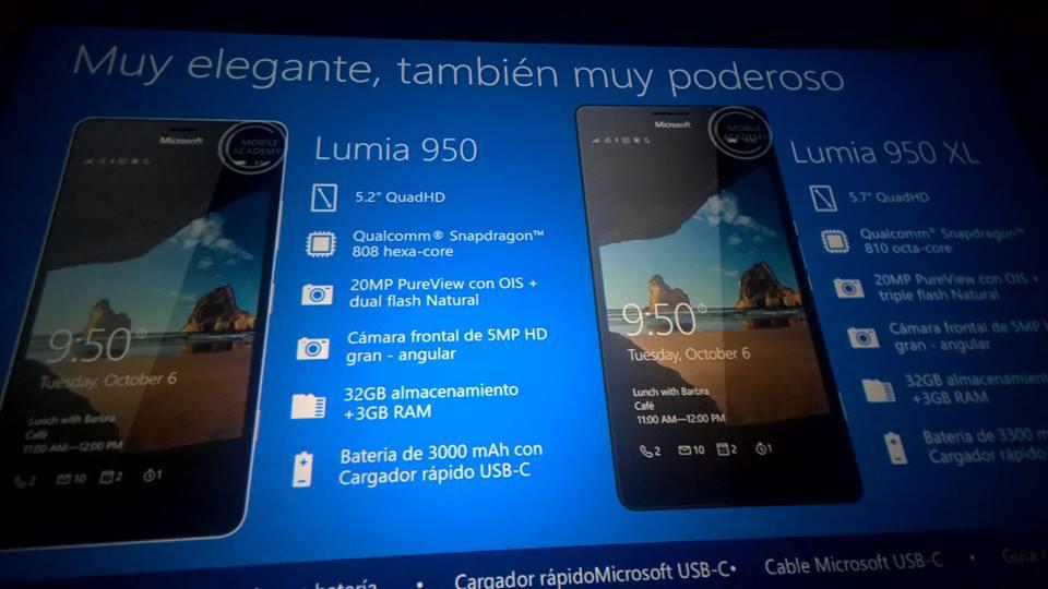 Microsoft Lumia 950 y Lumia 950 XL son internamente oficiales
