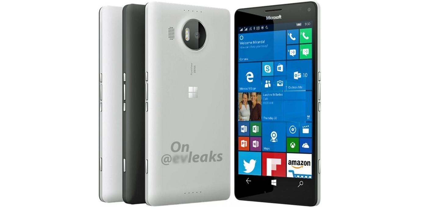 Microsoft Lumia 950 XL filtracion en color blanco