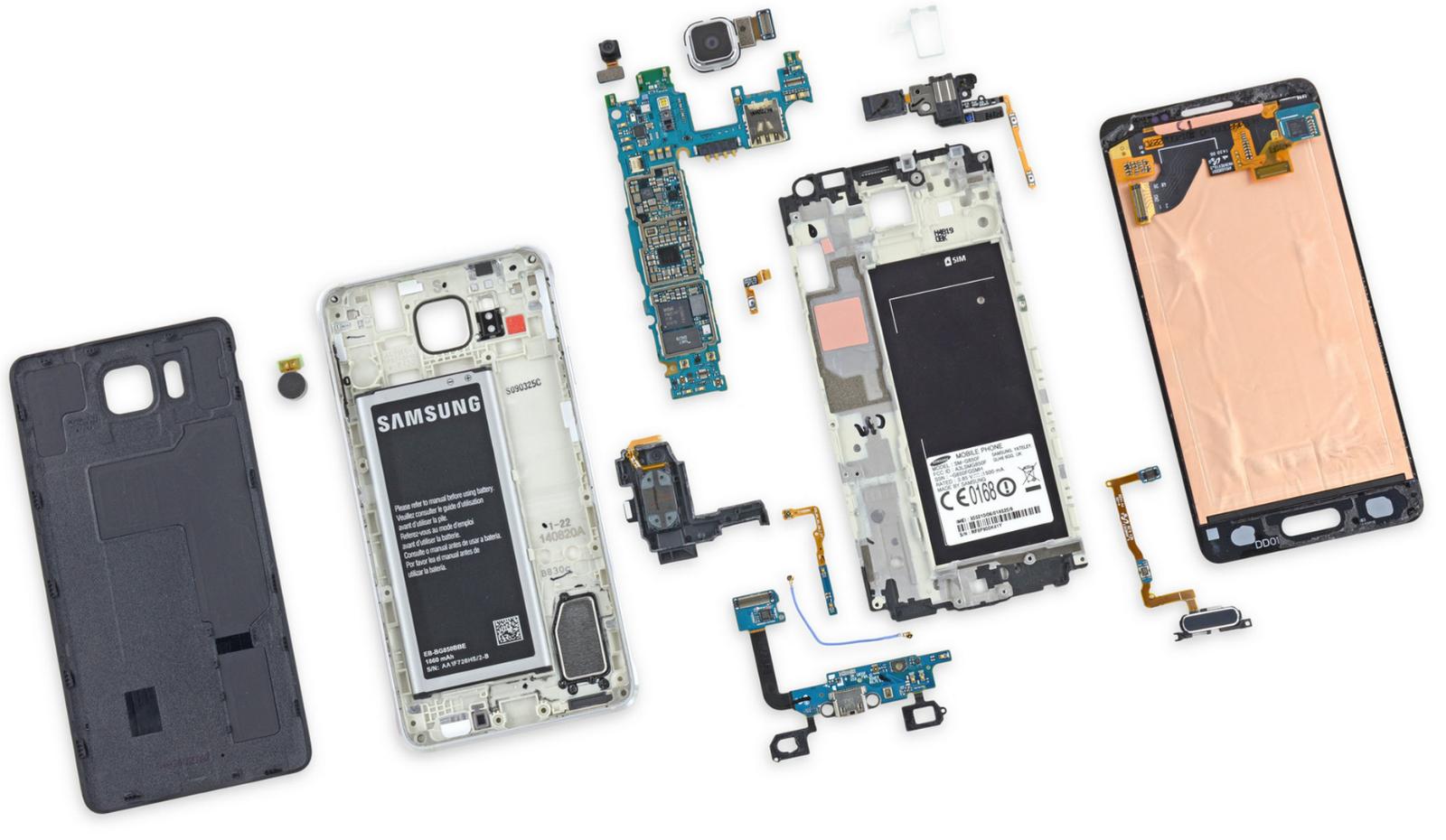 Hardware del Galaxy Alpha