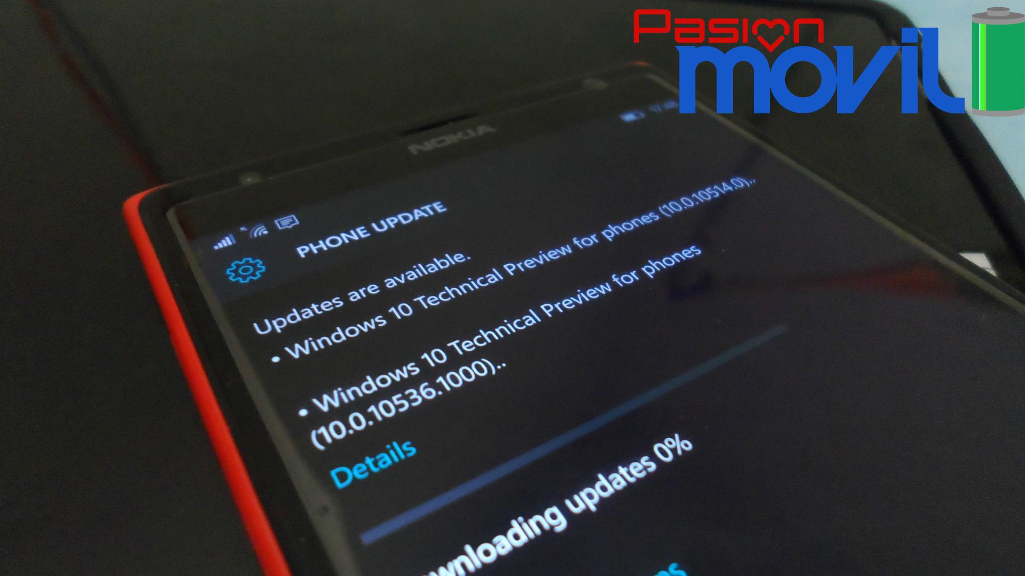 Windows 10 Mobile 10536 liberada
