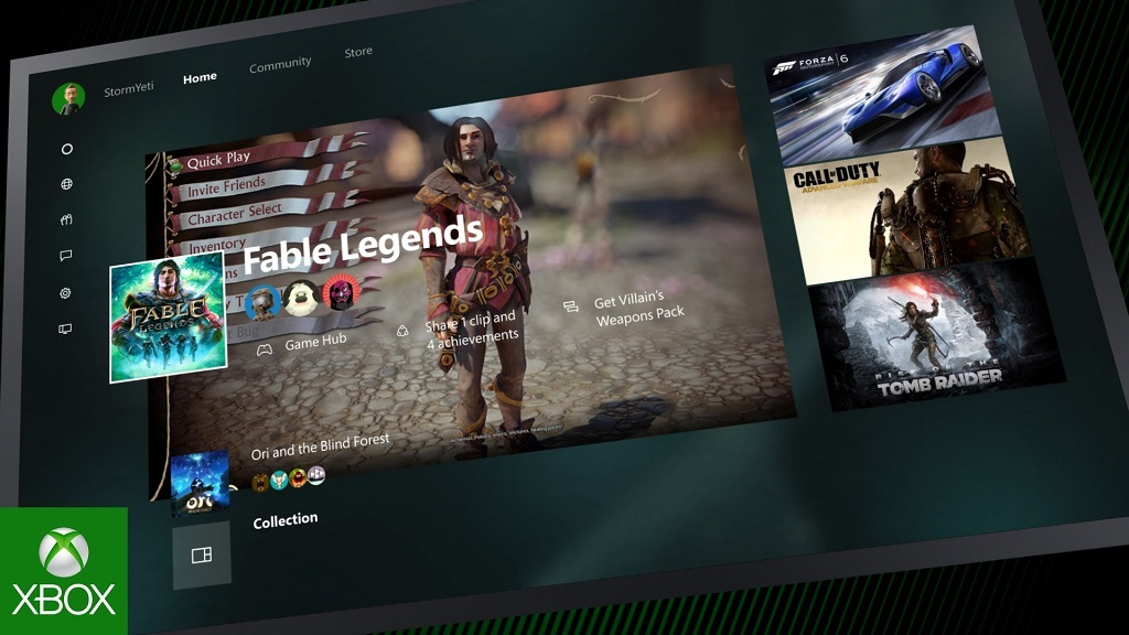 Xbox One Experience con Windows 10 en Xbox One