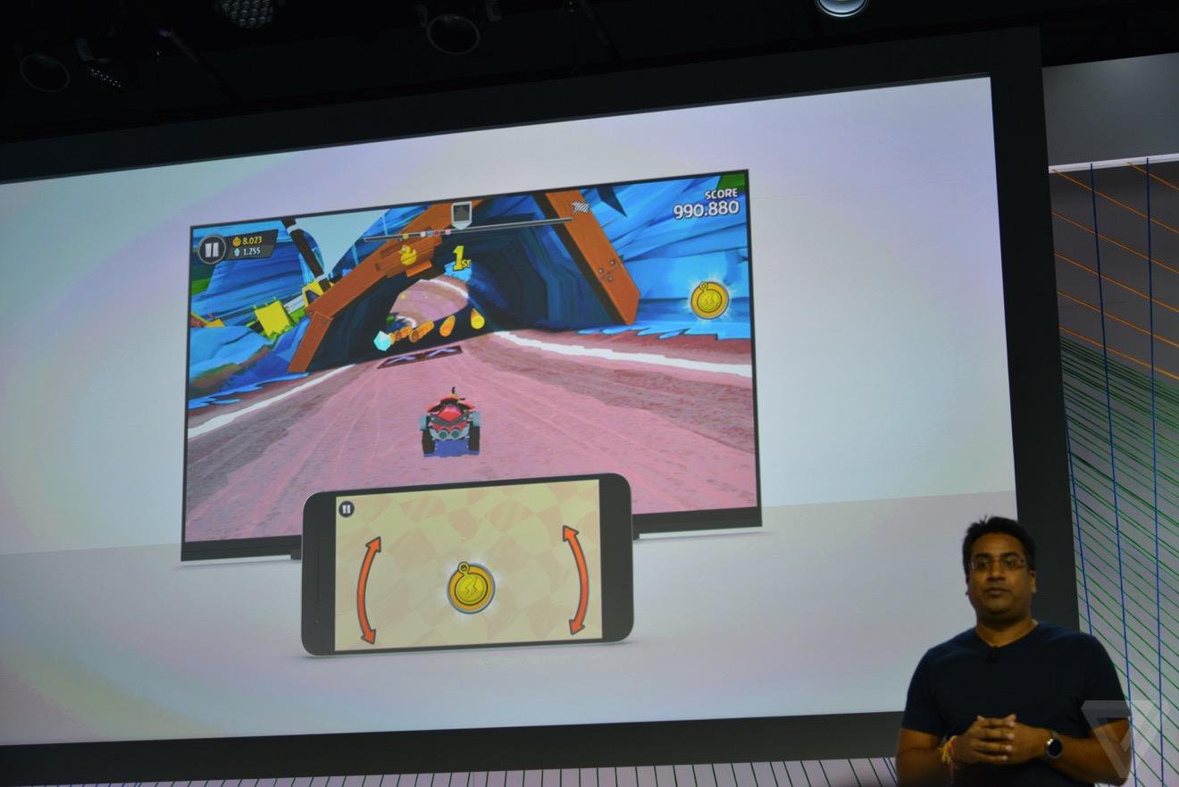 Nueva opción para jugar directamente en la pantalla vía chromecast.