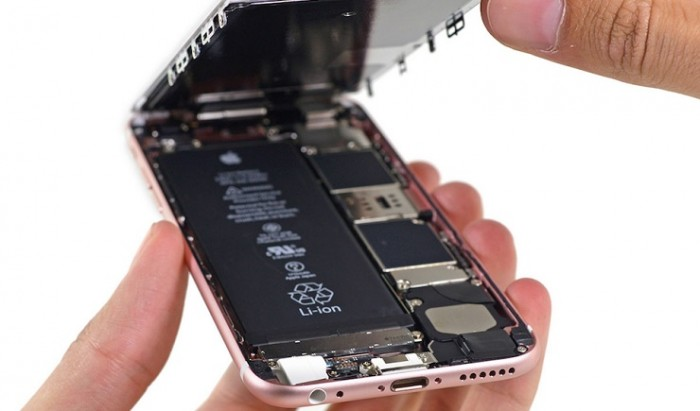 iPhone 6s rosa abierto