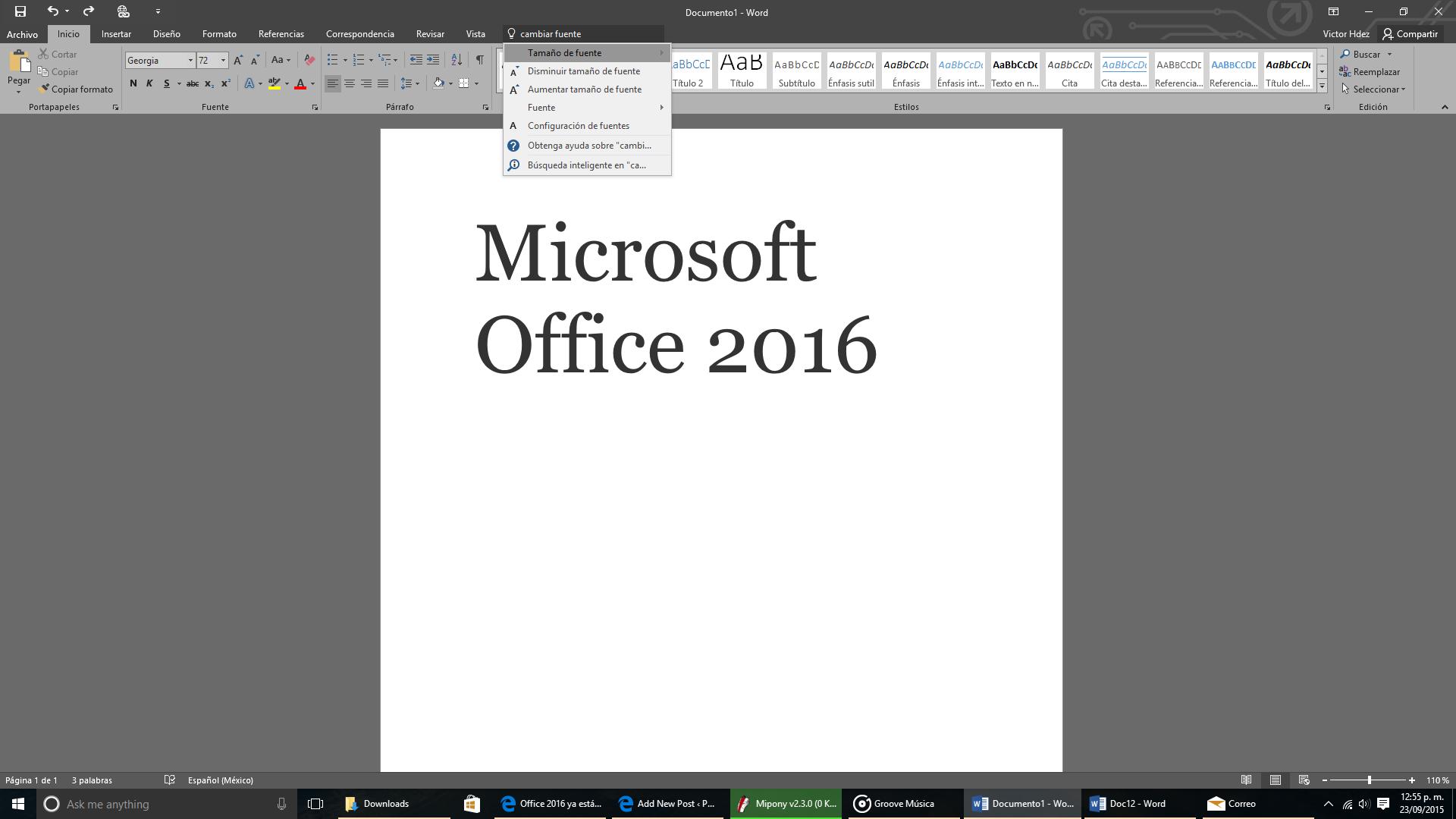 Tell ME, un asistente como Clippy para Office 2016