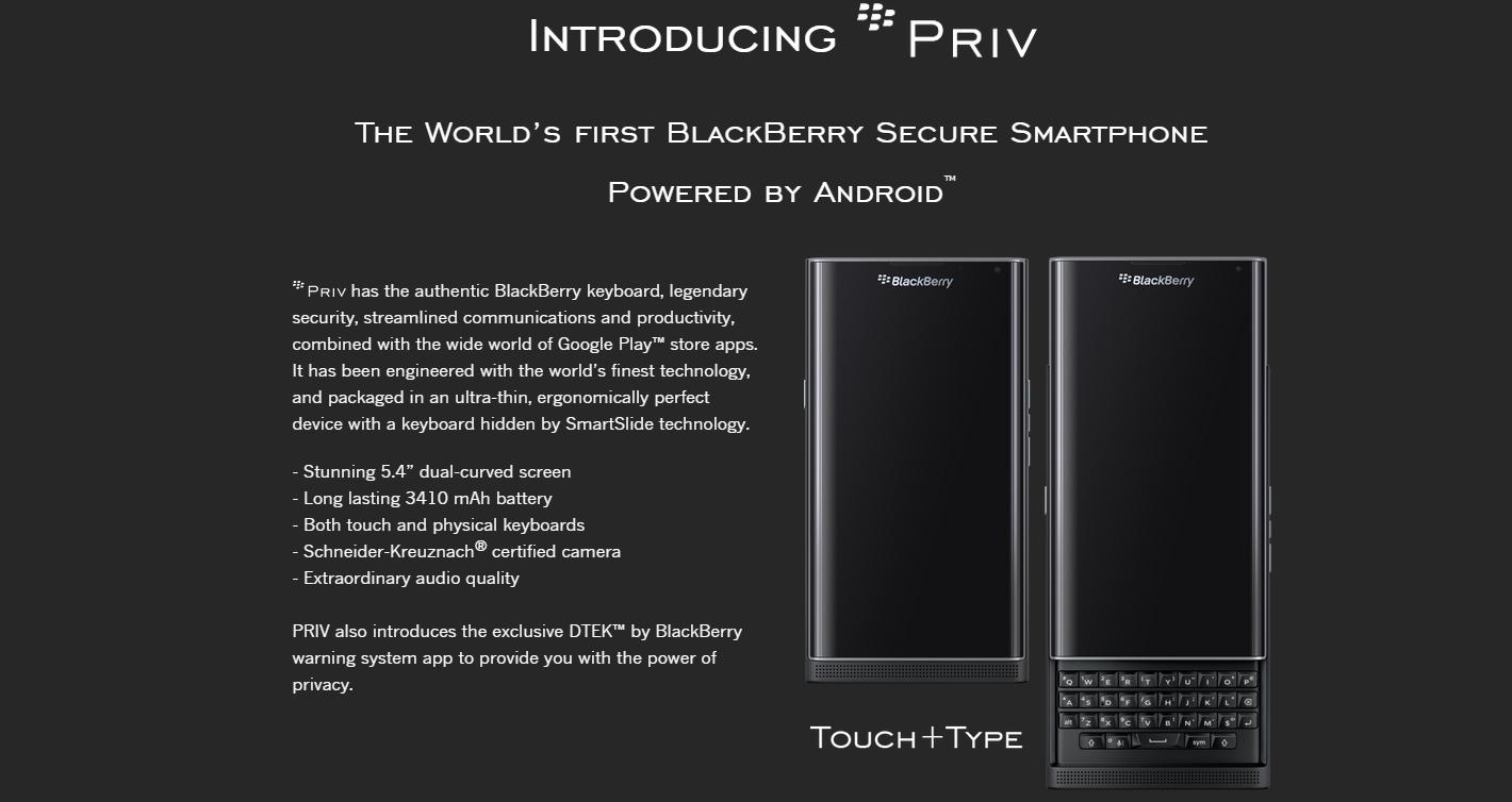 Pre-registro para el BlackBerry Priv