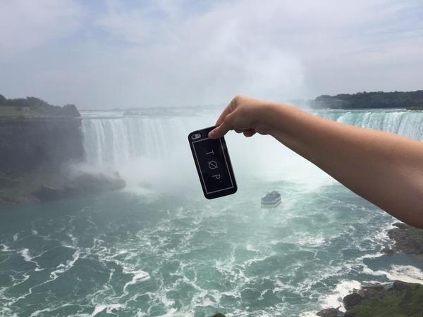 Extreme Phone Pitching en las Cataratas del Niagara