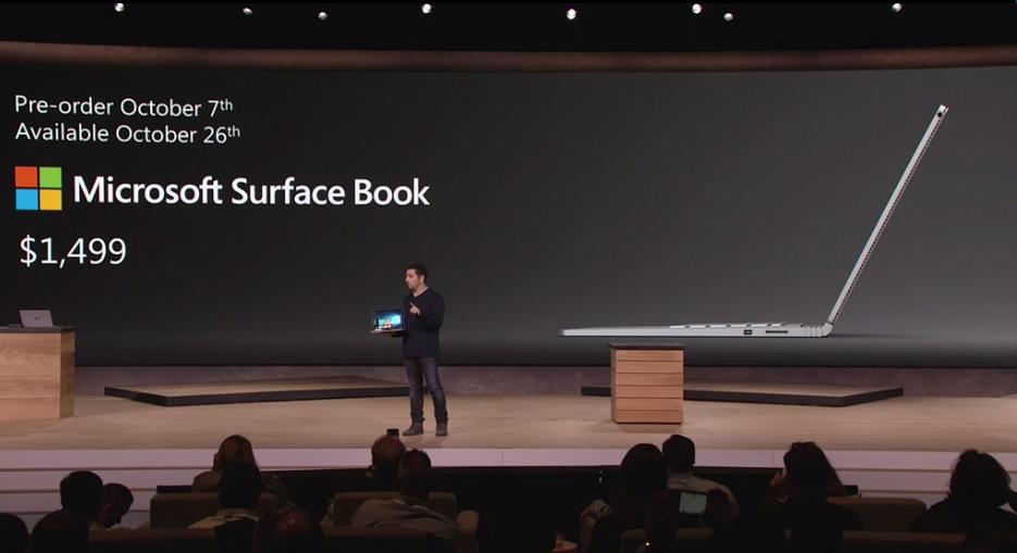 Microsoft Surface Book-disponibilidad y precio
