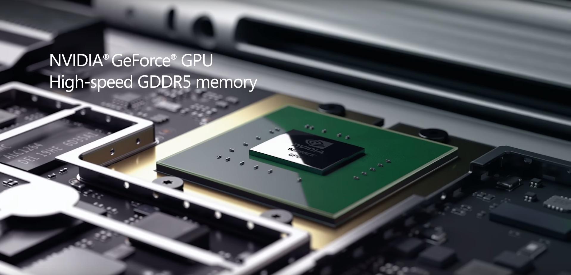 Surface Book integra gráficos Nvidia GeForce GDDR5