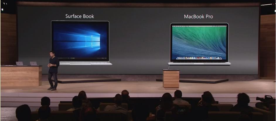 Microsoft Surface Book vs MacBook Pro