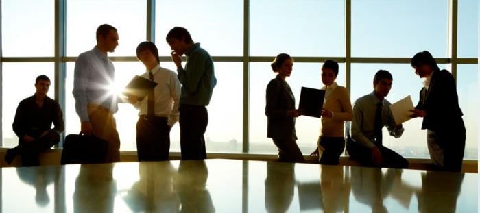 Personas trabajando en empresa