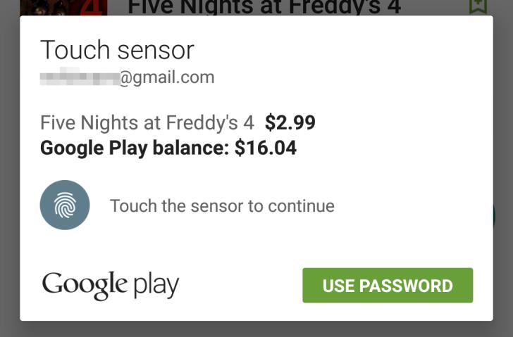 Coloca tu huella y compra fácilmente en la PlayStore