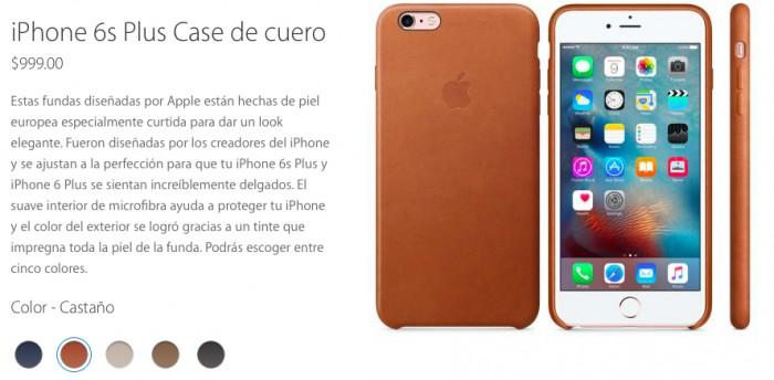 funda piel iphone 6s plus