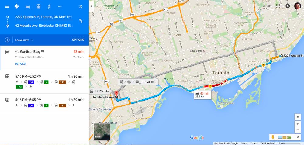 Material Design en Google Maps