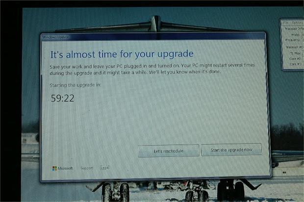 Sino reinicias, Microsoft forzará el update