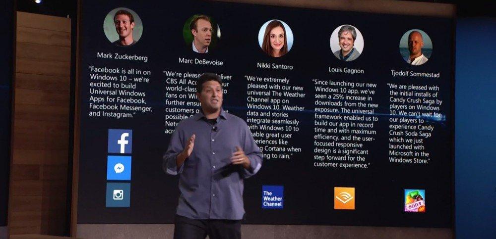 Windows 10 recibirá nuevas apps universales