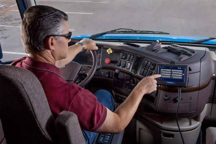 Camion con OmniTRACS de Qualcomm