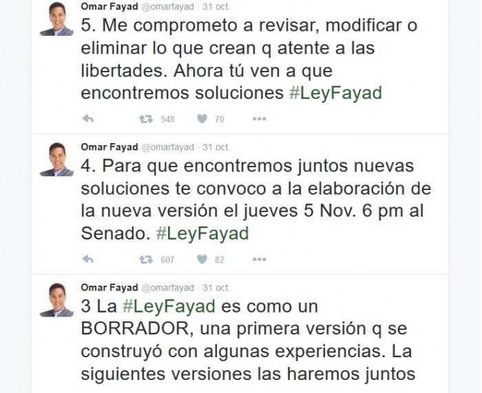 Tuits de Omar Fayad Ley Fayad