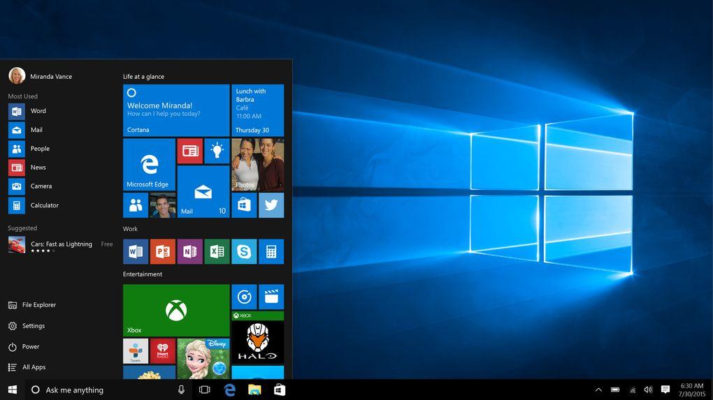 Windows 10 trajo consigo el regreso del menú de inicio y una unión entre las diferentes plataformas de Microsoft como las tablets, smartphones, Xbox, añadiendo servicios como Cortana, Microsoft Edge, siendo una combinación entre Windows 7 y Windows 8