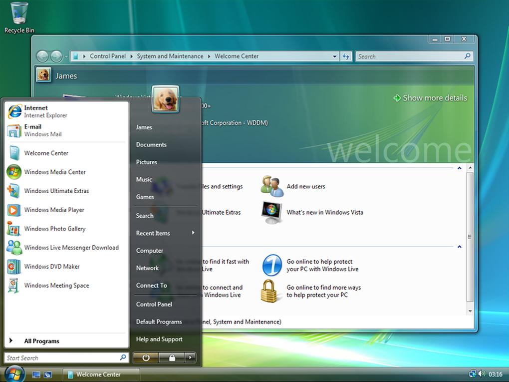 Windows Vista buscó ofrecer un ambiente más gráfico y visual con la interfaz Aero UI, mejoras en seguridad, pero fue un fracaso con múltiples criticas negativas