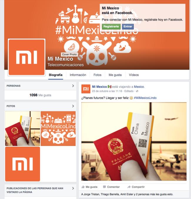 """Fanpage """"oficial"""" de Xiaomi en Facebook"""
