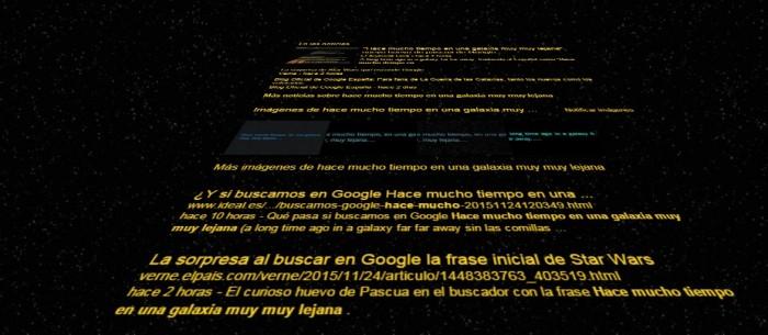 huevo de Pascua Google Star Wars