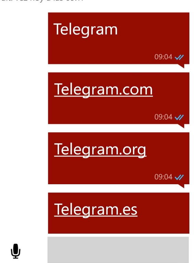 whatsapp palabra telegram