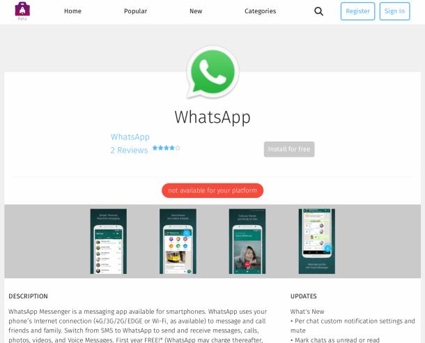 whatsapp para firefox marketplace