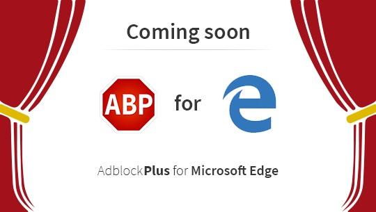 Adblock Plus próximamente para Microsoft Edge