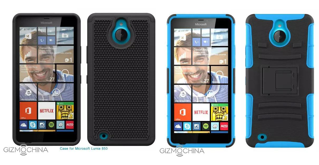 Cases filtradas para el Lumia 850