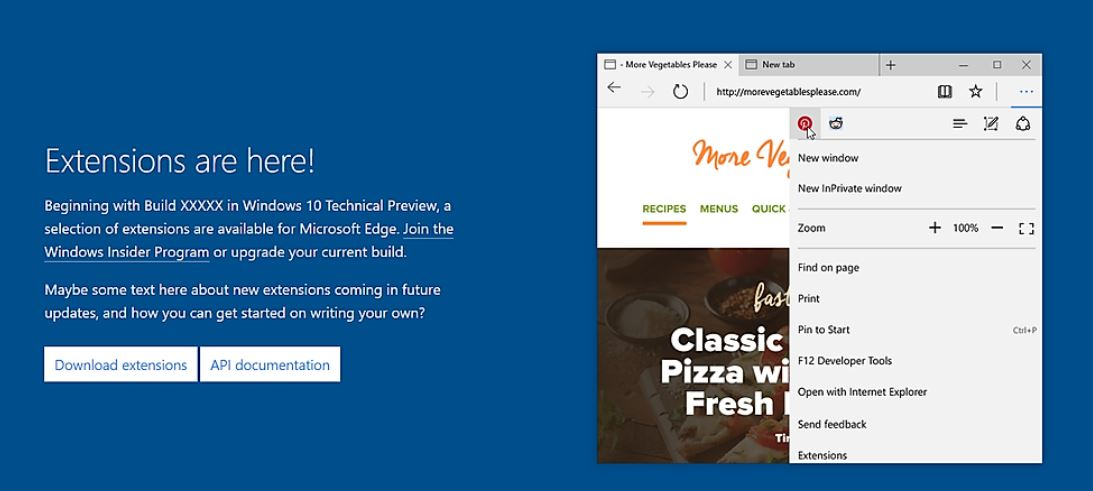 Microsoft Edge publicidad